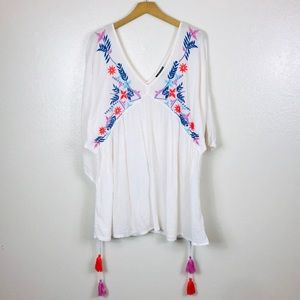 TOP SHOP Embroidery BOHO Top size M